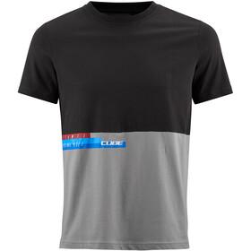 Cube Team T-paita Miehet, black'n'grey